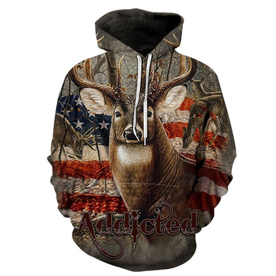 Addicted bow hunter hoodie.