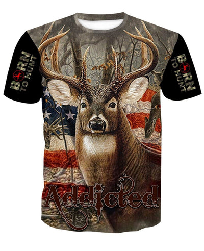Addicted bow hunter t-shirt. born To hunt.