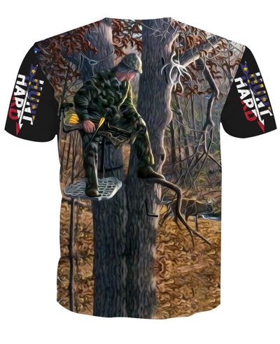 Tree Stand Hunting White Tail Deer Bow Hunter T-Shirt