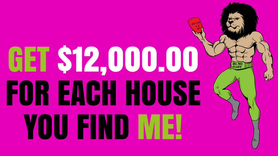 Get $12,000 for each Ugly or Pretty House you Find me!