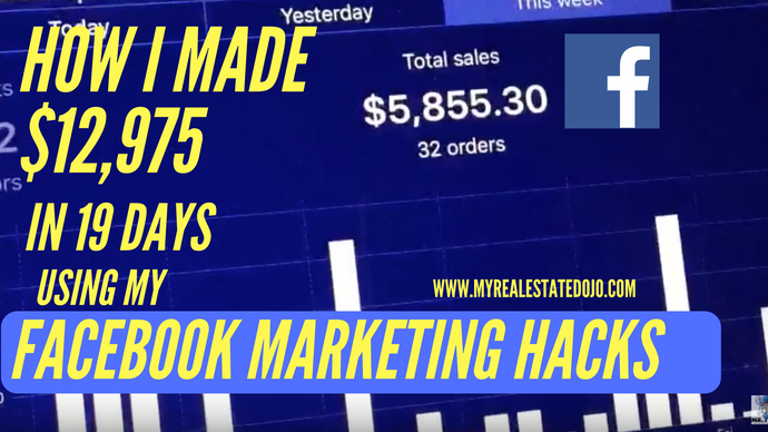 How I Made $12,975.00 in 19 days Using My Facebook Free Marketing Hacks