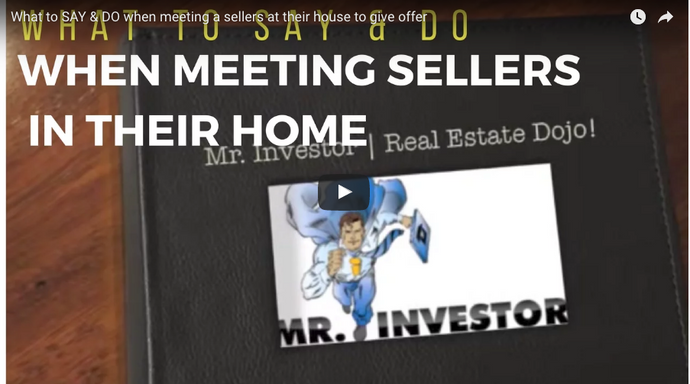What to SAY & DO When Meeting Sellers At Their House to Give An Offer