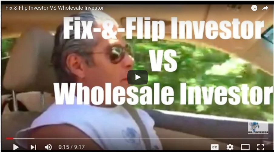 Fix-and-Flip Investor VS Wholesale Investor
