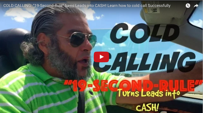 "COLD CALLING: ""19-Second-Rule"" Turns Leads Into CASH! Learn How To Cold Call Successfully"