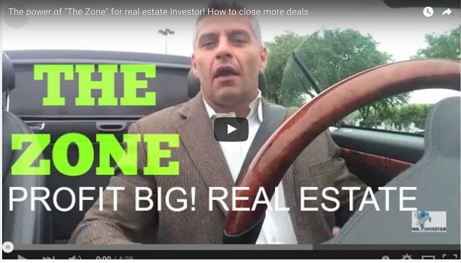 "The Power of ""The Zone"" for Real Estate Investor! How To Close More Deals"
