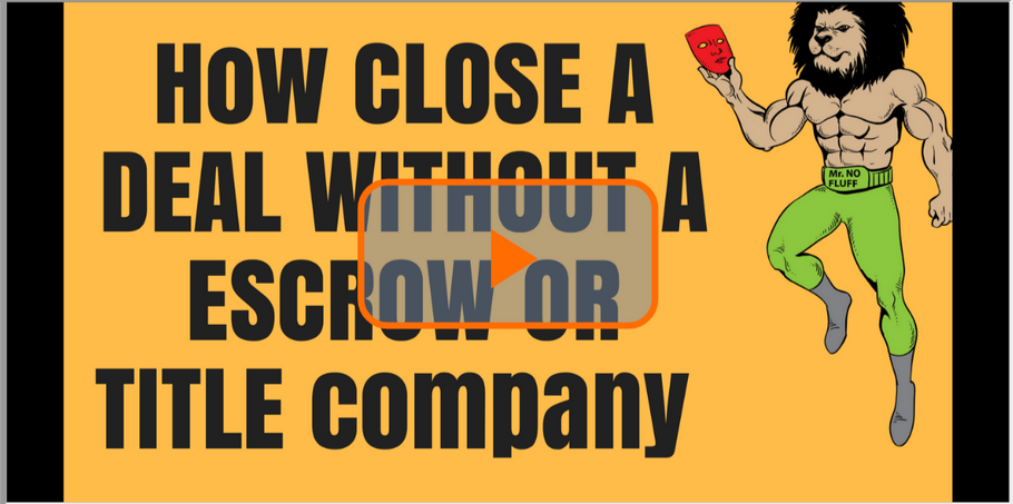 How to Close a Deal WITHOUT a Escrow/Title Company (How to file a Deed at the County Clerk Office)