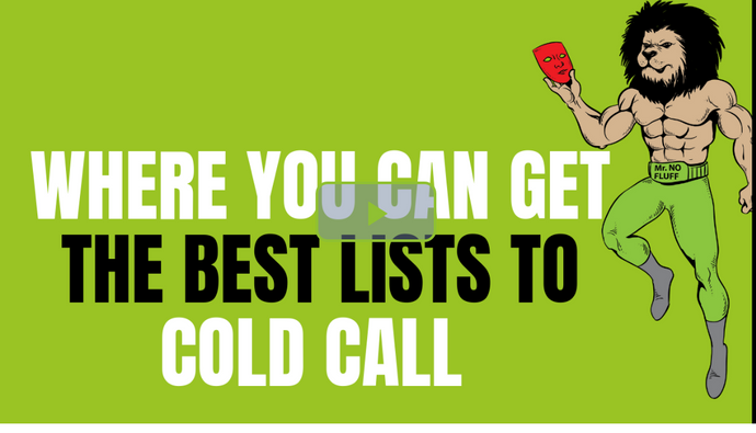 Where You Can Get The Best Lists To Cold Call