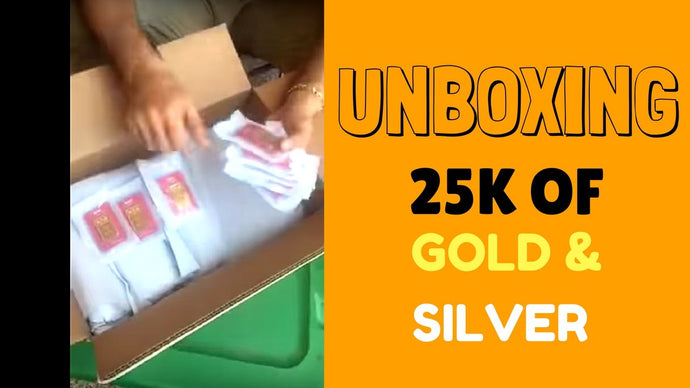 Unboxing $25,000 worth of Gold and Silver from Apmex.com and GoldSilver.com