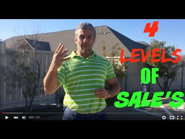 Discover the 4 levels of Sale's, so you can profit Sooner!