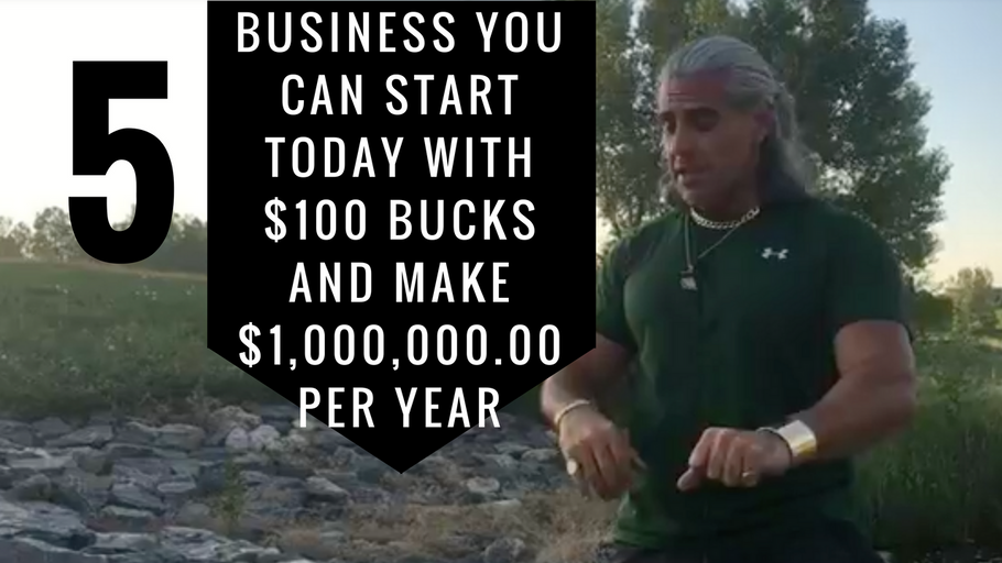 5 business you can start in 2017 with $100 bucks, and make $1,000,000.00 per year