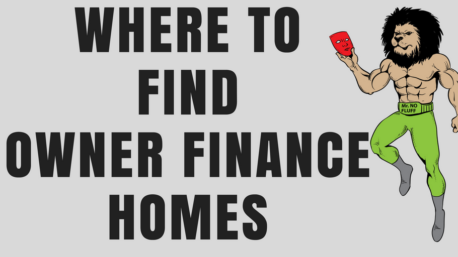 Where to find owner finance homes, so you can buy direct from the house owner