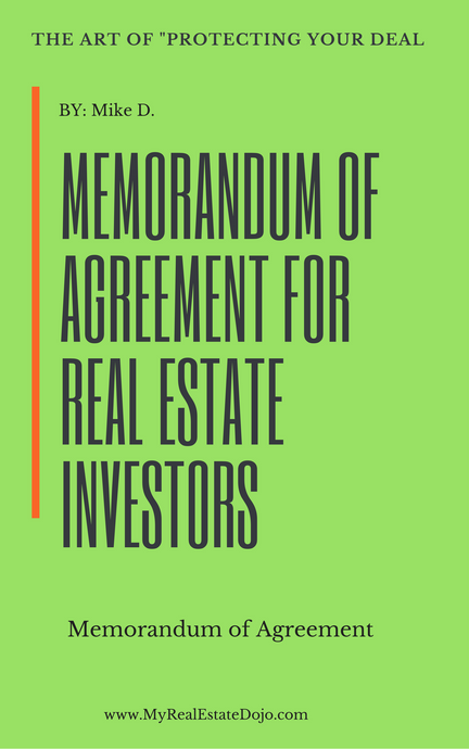 memorandum of agreement for real estate investors