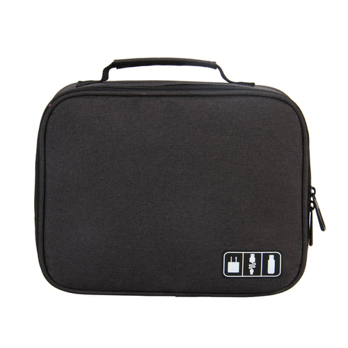 Hynes Eagle Portable Electronic Accessories Organizer Travel Carry Case (Black)