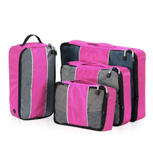 Hynes Eagle 4 Pieces Packing Cubes Value Sets  Fuchisia-s
