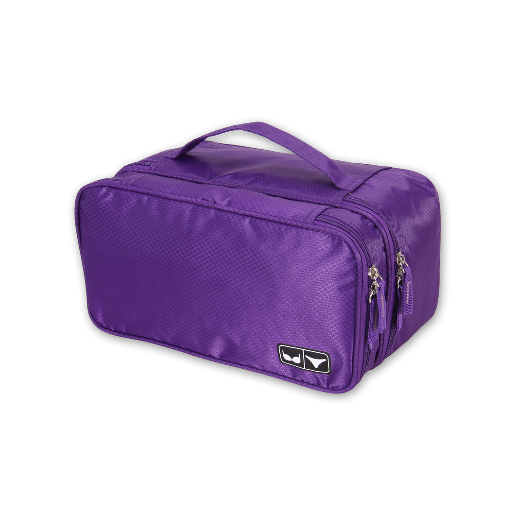 Hynes Eagle Travel Underwear Organizer Bag Purple