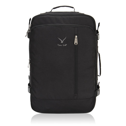 Hynes Eagle 38L Flight Approved Weekender Carry on Backpack Black