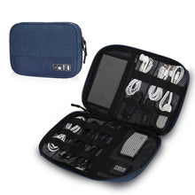 Hynes Eagle Travel Universal Cable Organizer Electronics Accessories Cases For Various USB, Phone, Charger and Cable, Blue