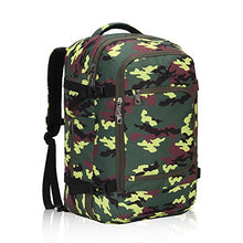Hynes Eagle 40L Flight Approved Carry on Backpack Yellow Camo