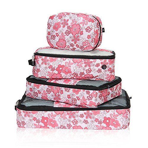 Hynes Eagle Travel Luggage Packing Organizers 4 Piece Packing Cubes Set
