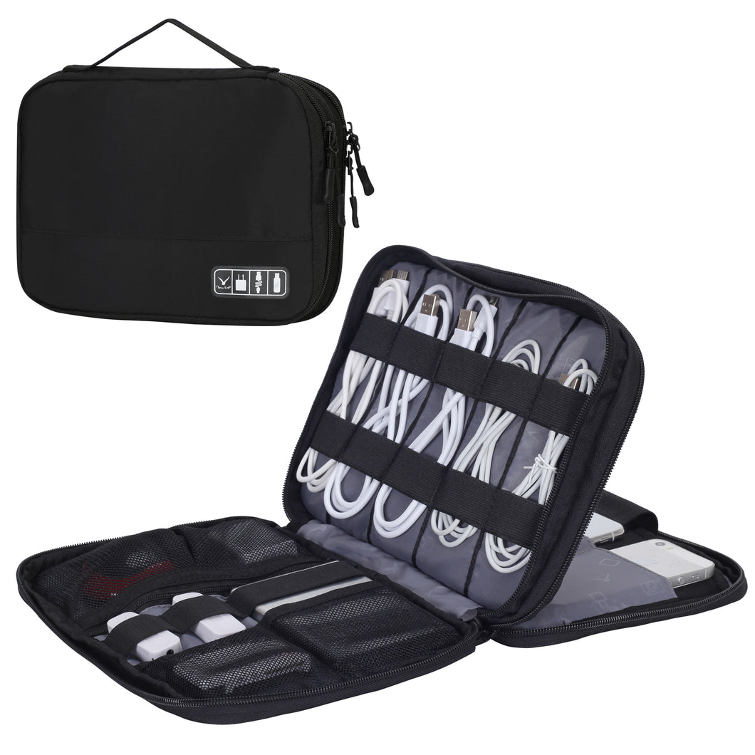 Hynes Eagle Travel Cable Organizer Case Cord Storage Bag Eletronics Pouch for 7.9 inches ipad Mini