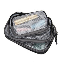 Hynes Eagle Multi-Purpose Travel Organizer Case Small Accessories Packing Cubes 3 Pieces Set