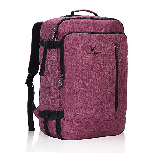Hynes Eagle 38L Flight Approved Weekender Carry on Backpack RedViolet