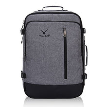 Hynes Eagle 38L Flight Approved Weekender Carry on Backpack BlackGrey