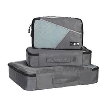Hynes Eagle Travel Luggage Packing Organizers 4-piece Set with Laundry Bag Grey