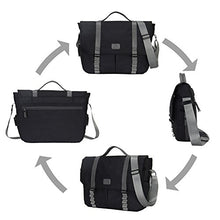 Hynes Eagle Explorer Travel Shoulder Messenger Bags for 14 inch Laptop Men Women Black