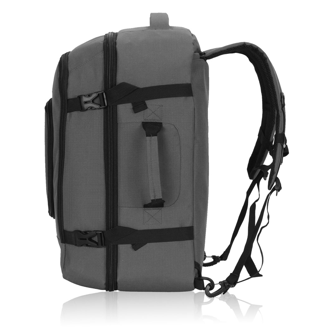 0c6b28f12137 Hynes Eagle 40L Flight Approved Carry on Backpack Grey