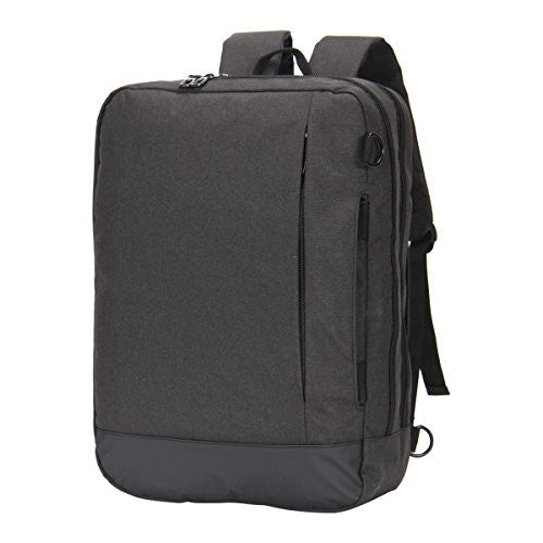 Hynes Eagle 4 in 1 Slim Convertible Laptop Backpack Messenger Bag for 15 inches (Black)