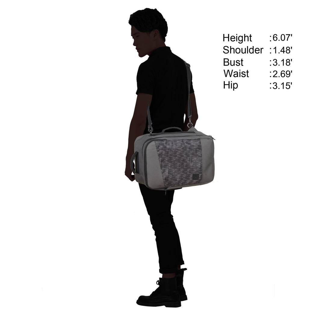 ... Hynes Eagle 28L Aurora Convertible 19x12x7.5 Flight Approved Carry On Travel  Backpack Grey Track ... 32413a792f8fb