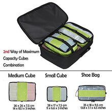 Hynes Eagle 4 Pieces Packing Cubes Value Sets Black-s