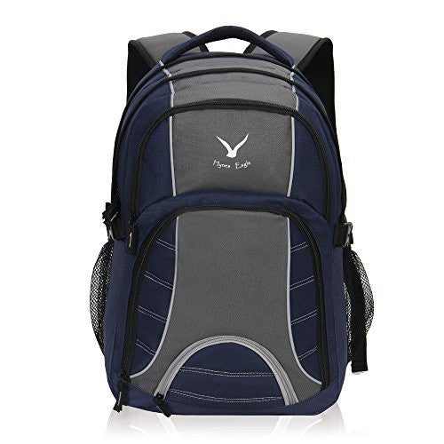 Hynes Eagle Multifunctional Backpack for Laptops up to 17-Inch Navy