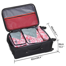 Hynes Eagle Travel Luggage Packing Organizers 4-piece Set with Laundry Bag Floral