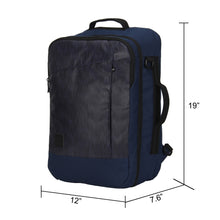 Hynes Eagle 28L Aurora Convertible 19x12x7.5 Flight Approved Carry On Travel Backpack Navy
