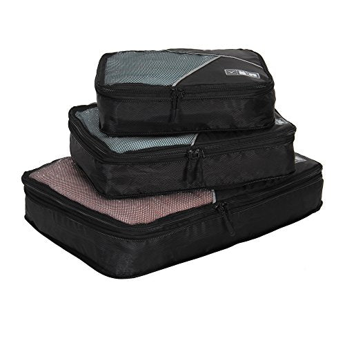 Hynes Eagle Travel Compression Packing Cubes Expandable Packing Organizer 3 Pieces Set