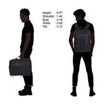 Hynes Eagle Minimalist City Backpack for Up to 15.6 inch Laptop Lightning Black