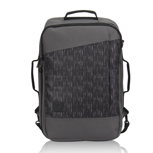 Hynes Eagle 28L Aurora Convertible 19x12x7.5 Flight Approved Carry On Travel Backpack Grey Track