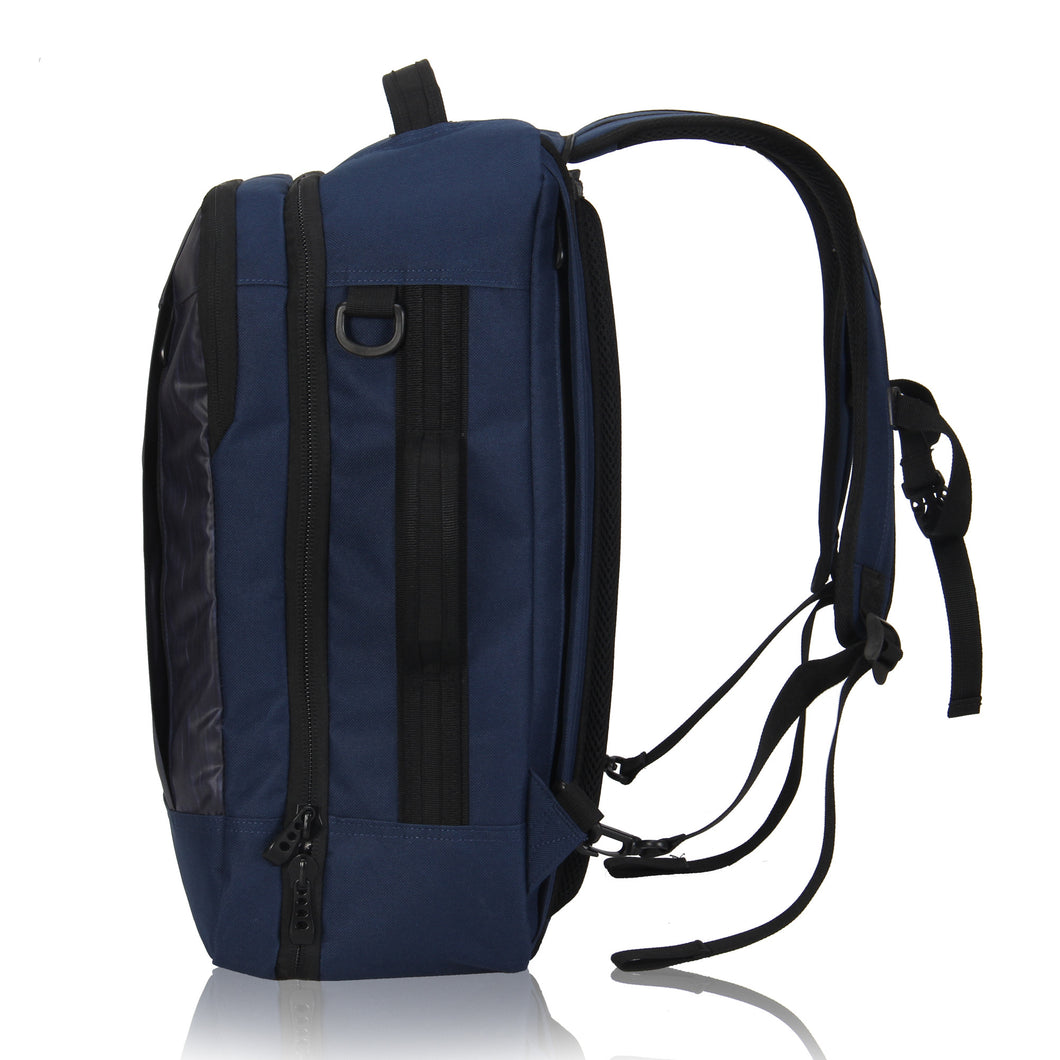 ... Hynes Eagle 28L Aurora Convertible 19x12x7.5 Flight Approved Carry On Travel  Backpack Navy ... 28b39000ef24e