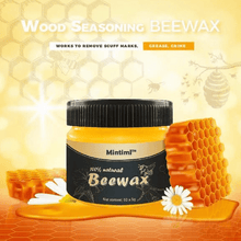 Load image into Gallery viewer, 100% Organic Restoration Beeswax Wood Polish