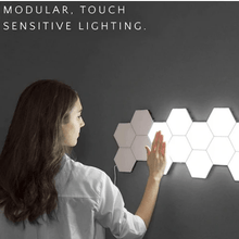 Load image into Gallery viewer, LumenTouch Hexagonal Wall Lamp