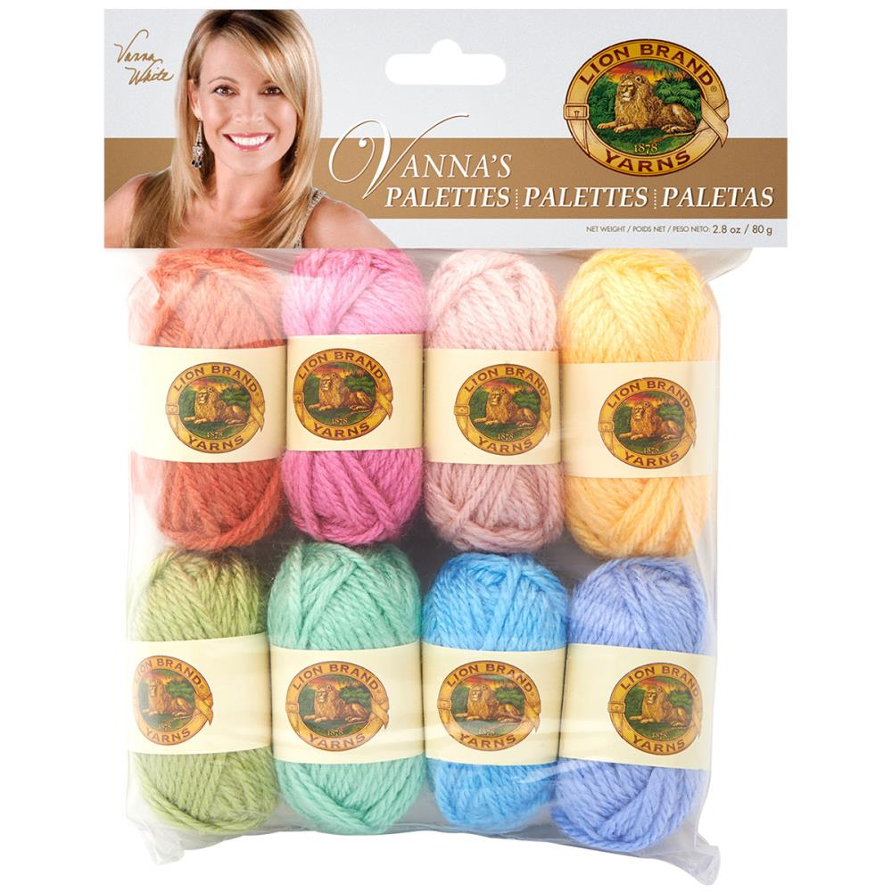 Lion Brand Vanna's Palette Bonbons Yarn 8/Pkg -Peaceful
