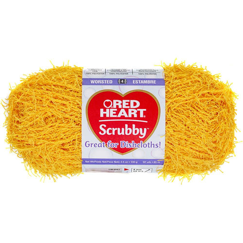Yellow Duckie-Red Heart Scrubby Yarn