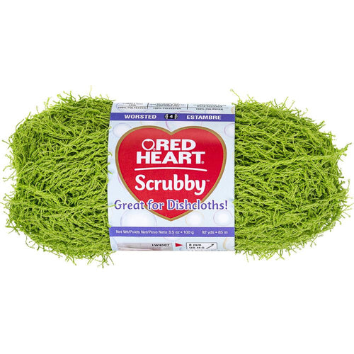 Red Heart Scrubby Yarn-Lime