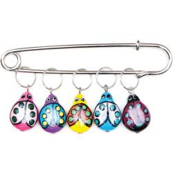 Lady Bugs Stitch Markers