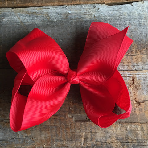 8 inc clip bows-MULTIPLE COLORS