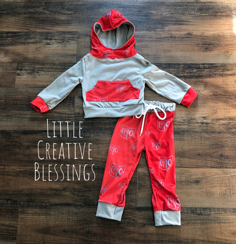 O-H-I-O sweat shirt and pants set