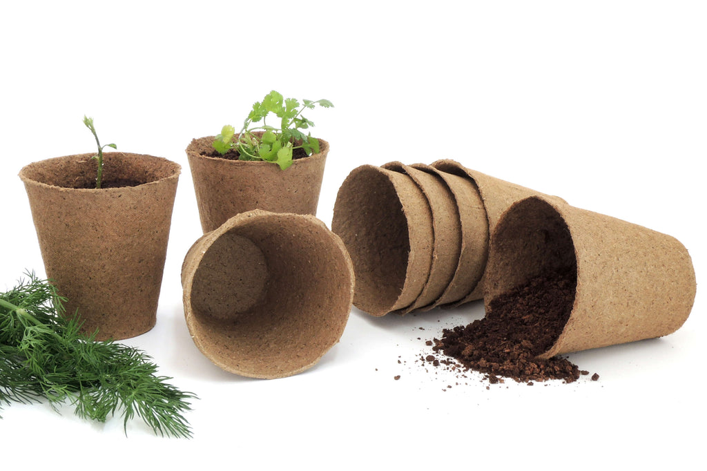 60 Pack 3-inch Biodegradable Peat Pots Round | Comes with 10 plant markers