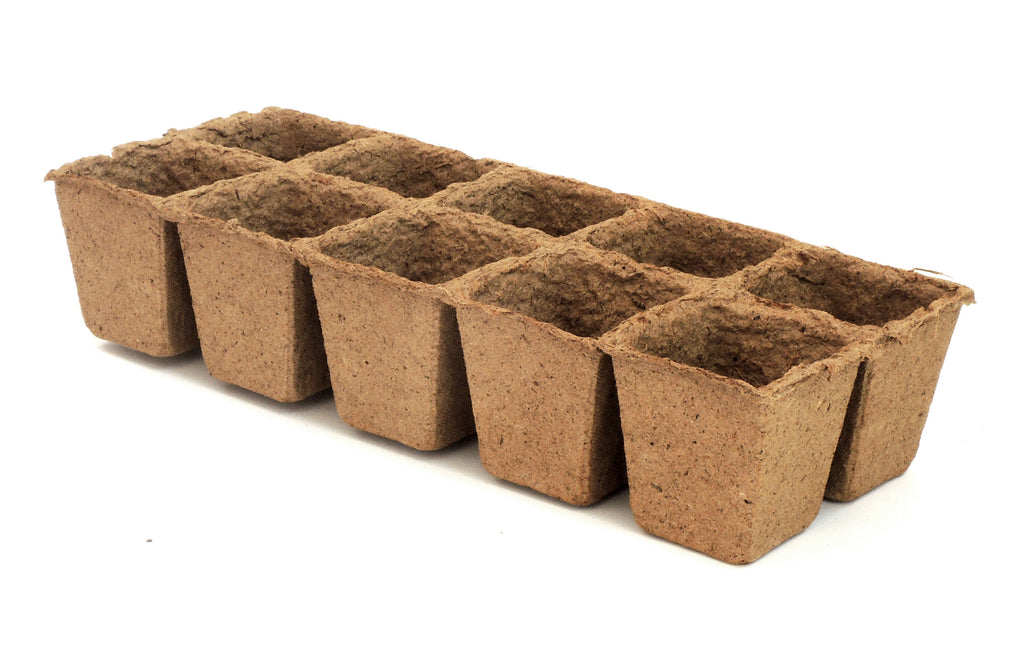 Biodegradable Peat Pot Trays 100-cell pack | For seed starting and germination | Comes with 10 plant markers